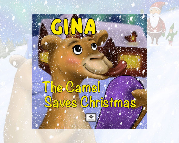 eBook cover for Book Prunelle's Gina the camel saves Christmas