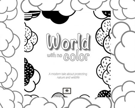Book cover for Book Prunelle's World with no color